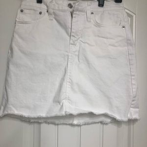J. Crew White Denim Skirt-Sz 25P